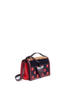 Loewe 'Barcelona Dots' suede and leather shoulder bag