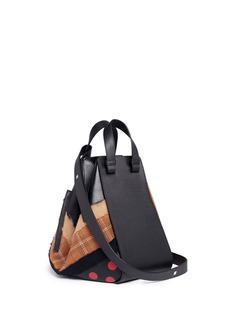 Loewe 'Hammock' polka dot colourblock panel leather bag