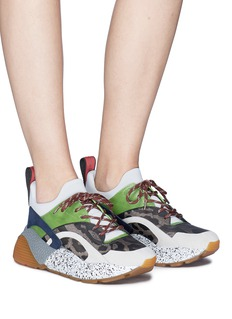 Stella McCartney 'Eclypse' colourblock leopard print jacquard sneakers