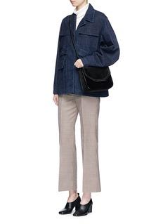 Stella McCartney 'Falabella Box' chain strap velvet shoulder bag