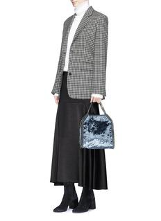 Stella McCartney 'Falabella' mini crushed velvet chain shoulder tote