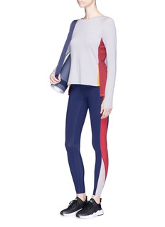Particle Fever x The Woolmark Company colourblock long sleeve performance top