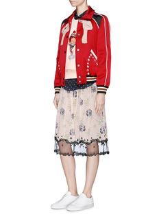 Coach Tulle hem prairie floral and dog print skirt