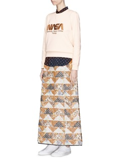 Coach Floral quilted patchwork maxi skirt