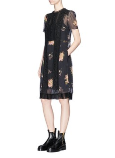Coach Pleated floral print dress