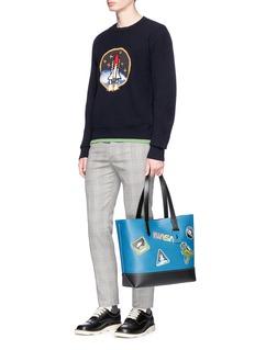 Coach 'Gotham' space motif glovetanned leather tote bag
