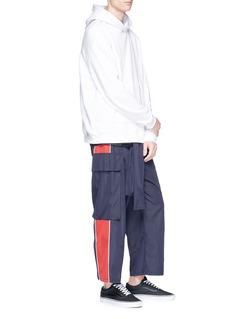 R.shemiste Mock sleeve tie windbreaker cargo pants