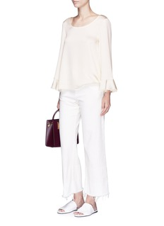 Elizabeth and James 'Haven' flared cuff satin top