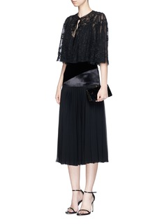 Needle & Thread 'Shadow' beaded floral embroidered cropped cape
