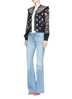 Needle & Thread 'Victorian Folk' floral embroidered bomber jacket