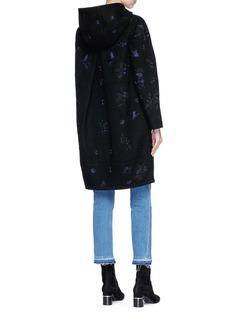 Needle & Thread 'Hummingbird' floral embroidered melton duffle coat