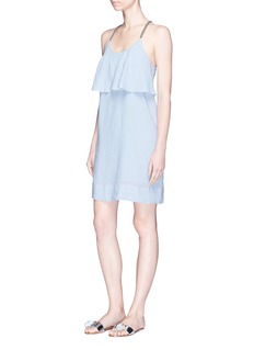 ViX 'Lane' rope strap ruffle overlay gauze dress