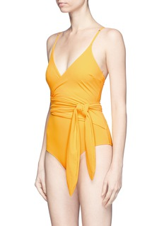 Stella McCartney 'Timeless Basics' wraparound one-piece swimsuit