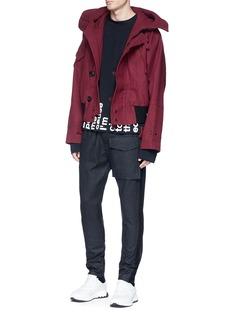 Pronounce Wool blend melton hooded jacket