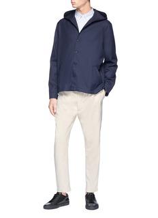 Sunnei Hooded twill jacket
