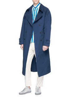 Sunnei Belted twill trench coat
