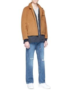 Sunnei Wool-cashmere melton layered coat