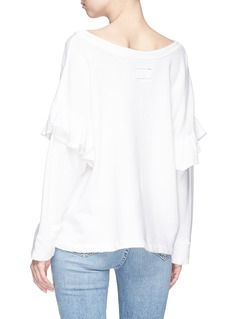 Current/Elliott Ruffle drop sleeve sweatshirt