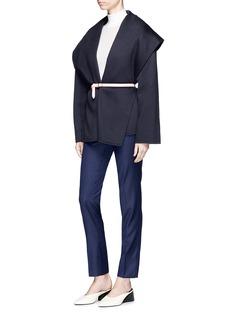 Gabriela Hearst 'Harris' belted cashmere melton short coat