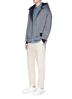 FFIXXED STUDIOS Layered cotton gabardine shirt