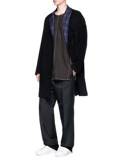 FFIXXED STUDIOS Contrast lapel wool coat