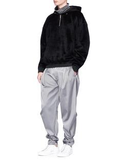 Feng Chen Wang Pleated satin jogging pants