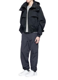 Feng Chen Wang Detachable hood gabardine jacket