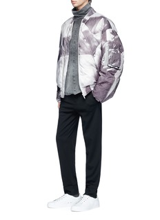 Feng Chen Wang Graphic print down padded bomber jacket