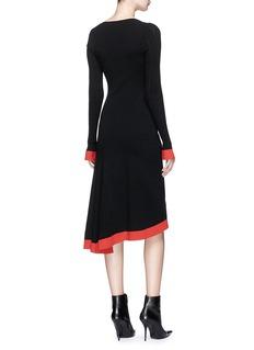 Esteban Cortazar 'Kira' asymmetric mixed knit dress