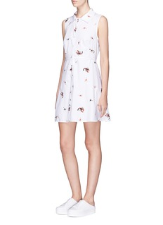 Opening Ceremony Detachable collar scorpion embroidered poplin dress