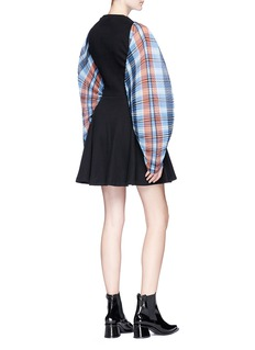 Opening Ceremony 'Plaid Flare' rib knit dress
