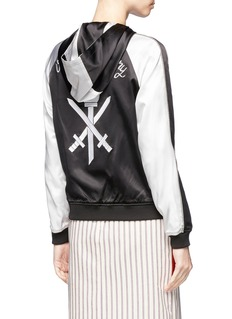 Opening Ceremony Reversible silk hooded jacket