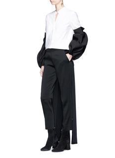 Hellessy 'Tennant' puff sleeve colourblock tuxedo shirt