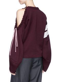 Hellessy Drawstring cutout shoulder sweatshirt