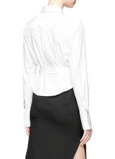 Tome Poplin belted corset shirt