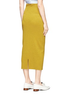 Tome Virgin wool rib knit pencil skirt