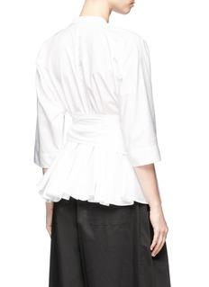 TOME Peplum褶裥系带有机棉衬衫