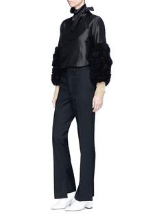 TOGA ARCHIVES Frayed chiffon sleeve silk shantung blouse