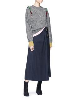 TOGA ARCHIVES Embellished shoulder wool blend sweater