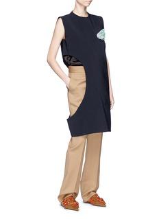 TOGA ARCHIVES Cutout side embellished sleeveless crepe dress