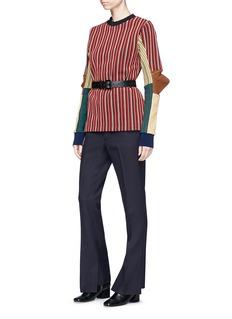 TOGA ARCHIVES Colourblock stripe jacquard jersey sweater