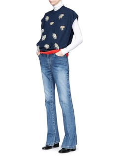 TOGA ARCHIVES Beaded fringe layered knit sweater