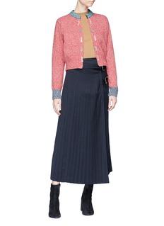 TOGA ARCHIVES Embellished cropped wool blend cardigan