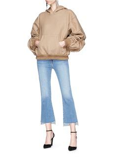 Johanna Ortiz 'Janis' ruched sleeve wool flannel hoodie