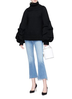 Johanna Ortiz 'Irina' turtleneck puff sleeve wool sweater
