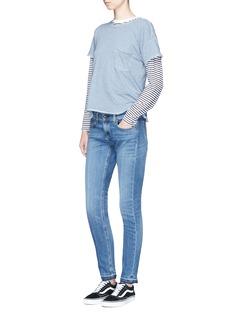 rag & bone/JEAN 'Dre' letout cuff skinny jeans
