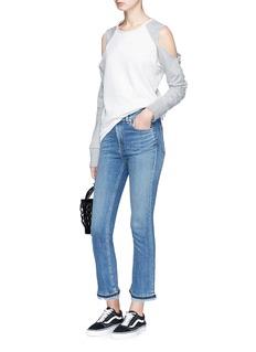 rag & bone/JEAN 'Hana' letout cuff cropped skinny jeans