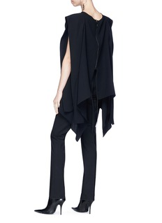 Maticevski 'Winters' shoulder sash panel crepe top