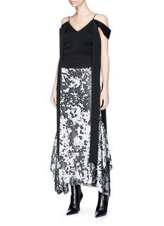 Maticevski 'Starry Night' sequin flared skirt