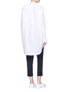 bassike Mandarin collar oversize poplin shirt